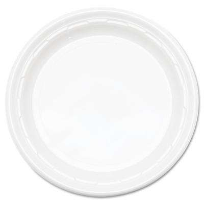 Plastic Plates, 9 in., White, 500 Per Case