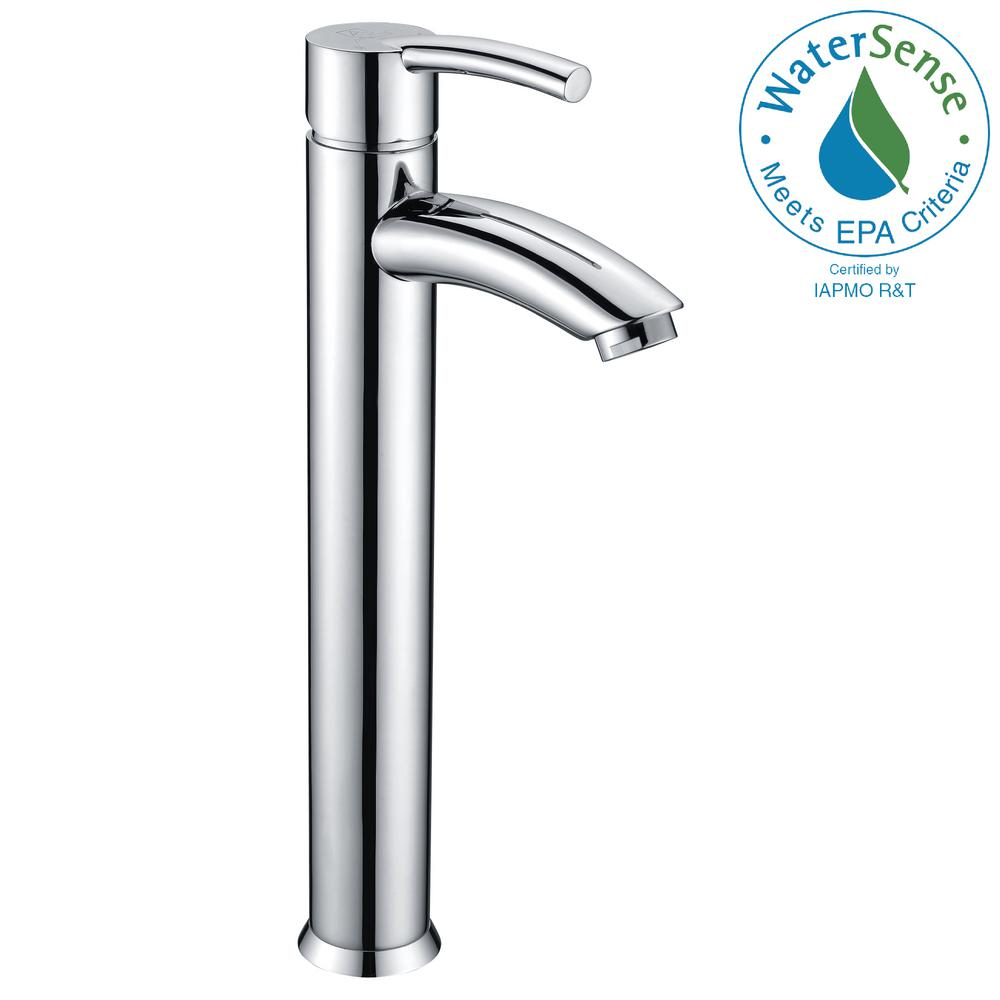 Quartet Single Hole Single-Handle Bathroom Faucet in Polished Chrome