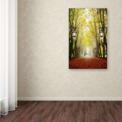 "47 in. x 30 in. ""Plane Tree Alley"" by Philippe Sainte-Laudy Printed Canvas Wall Art"