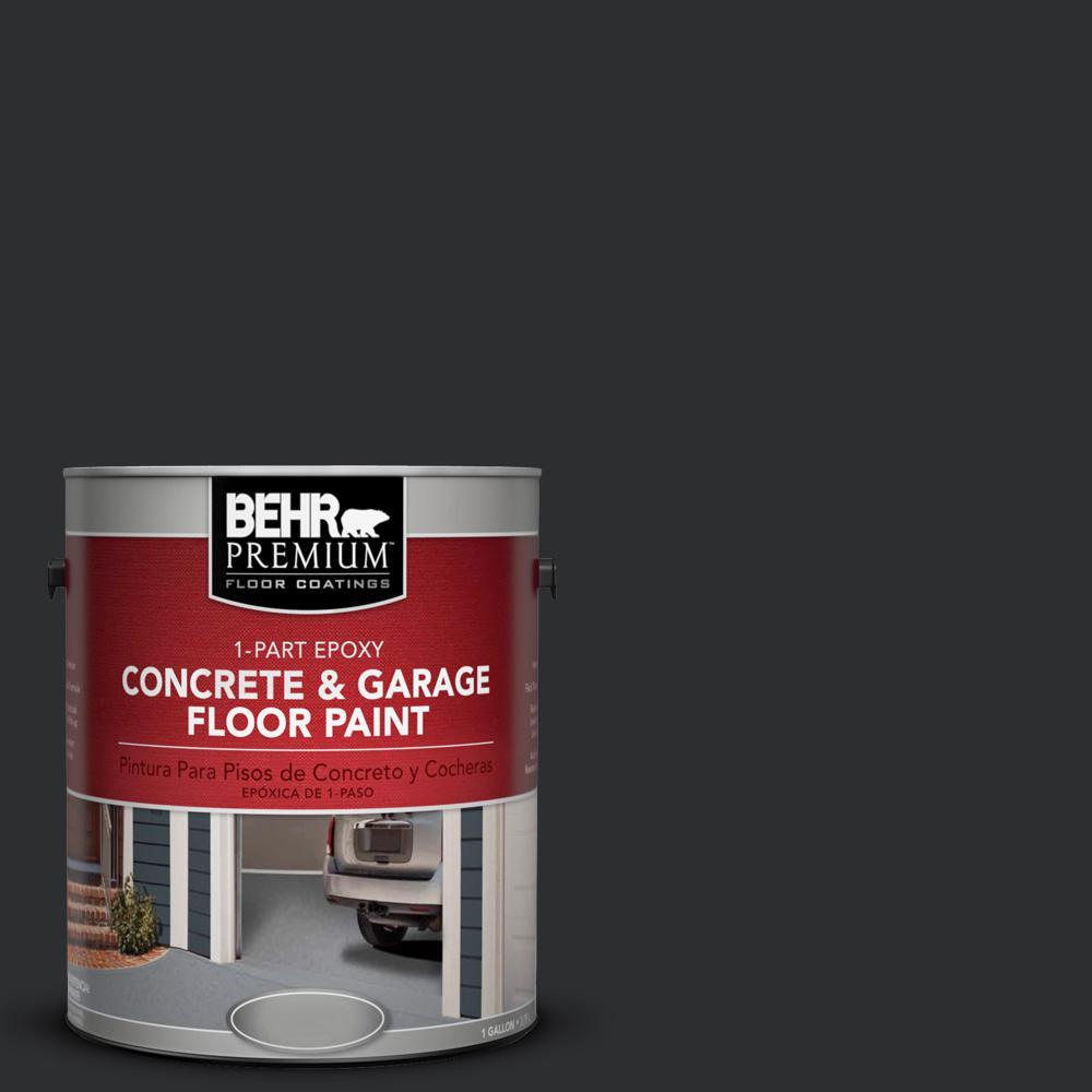 1 gal. #ECC-10-2 Jet Black 1-Part Epoxy Concrete and Garage Floor Paint