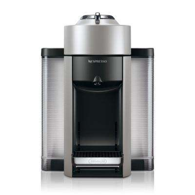 Vertuo Single Serve Coffee and Espresso Machine by De'Longhi in Silver