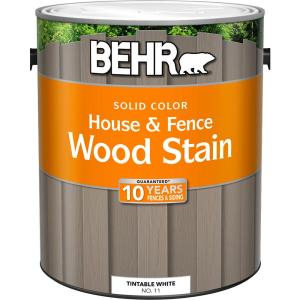 Behr 1 Gal White Base Solid Color House And Fence