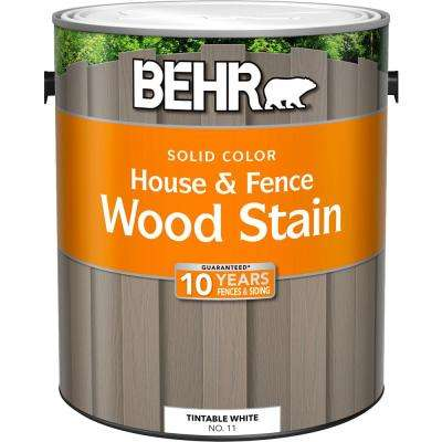 1 gal. White Base Solid Color House and Fence Wood Stain