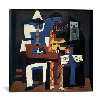 """Three Musicians"" by Pablo Picasso Canvas Wall Art"