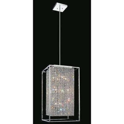 Cube 11-Light Chrome Pendant
