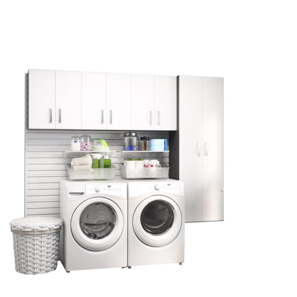 Modular Laundry Room Storage Set with Accessories in White (4-Piece)  sc 1 st  Home Depot & Laundry Room Storage - Storage u0026 Organization - The Home Depot