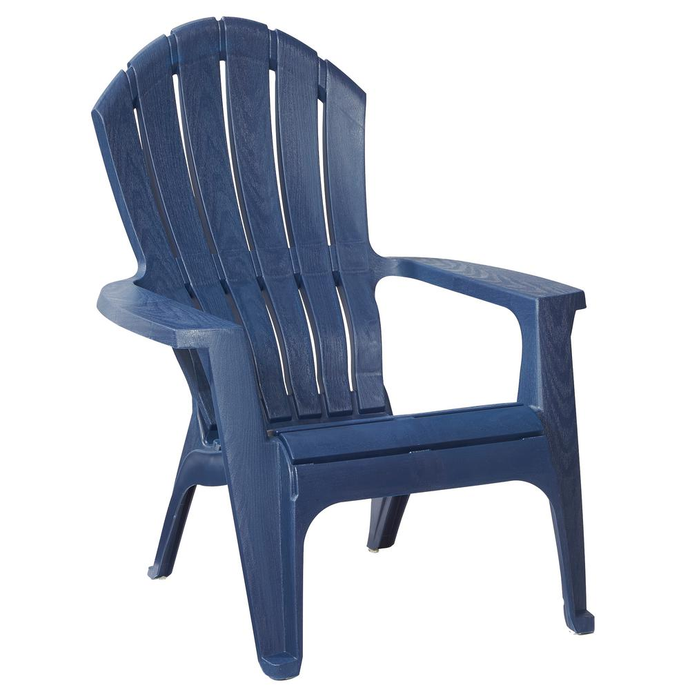 Beautiful RealComfort Midnight Patio Adirondack Chair 8371 94 4303   The Home Depot