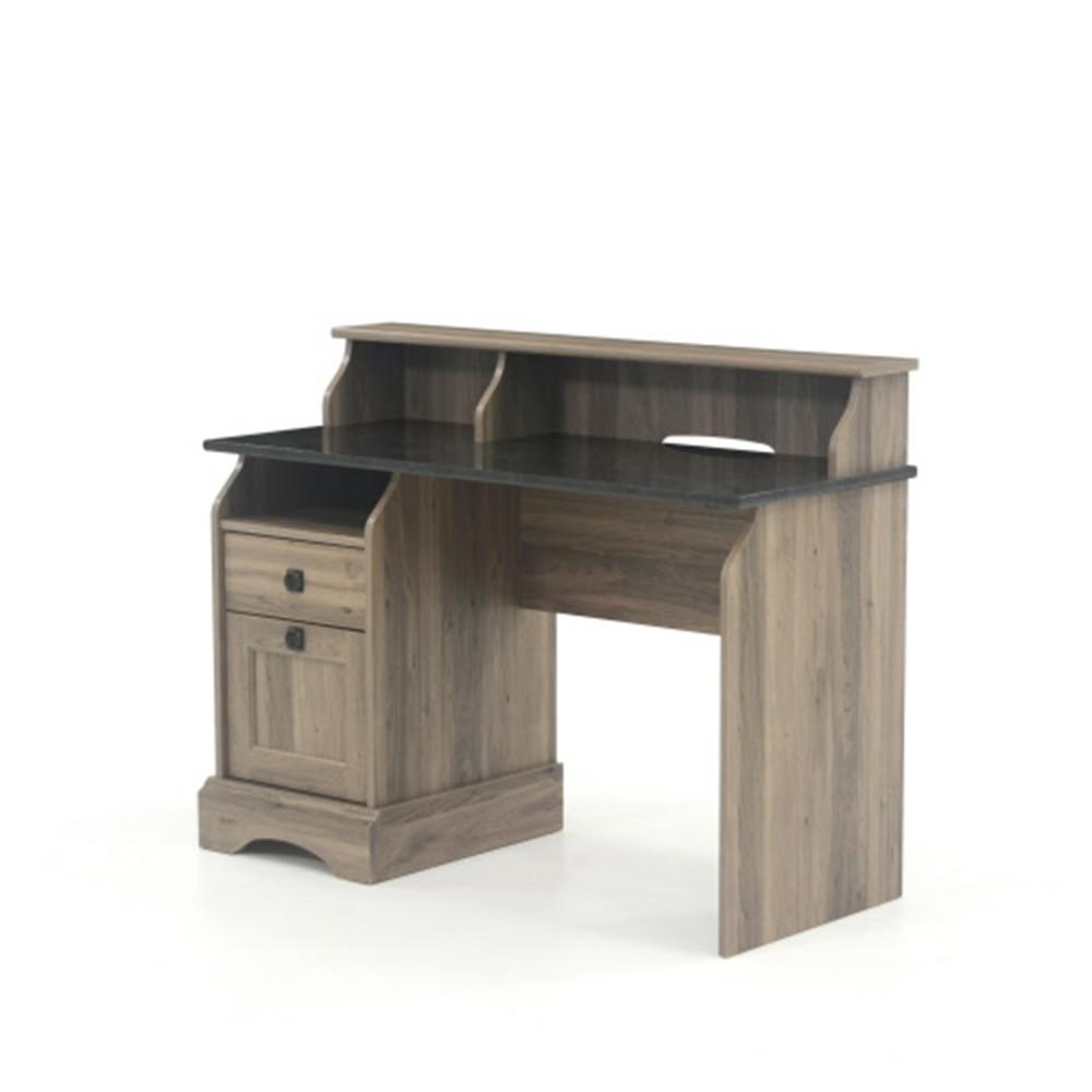 Sauder Graham Hill Salt Oak Desk With File Drawer