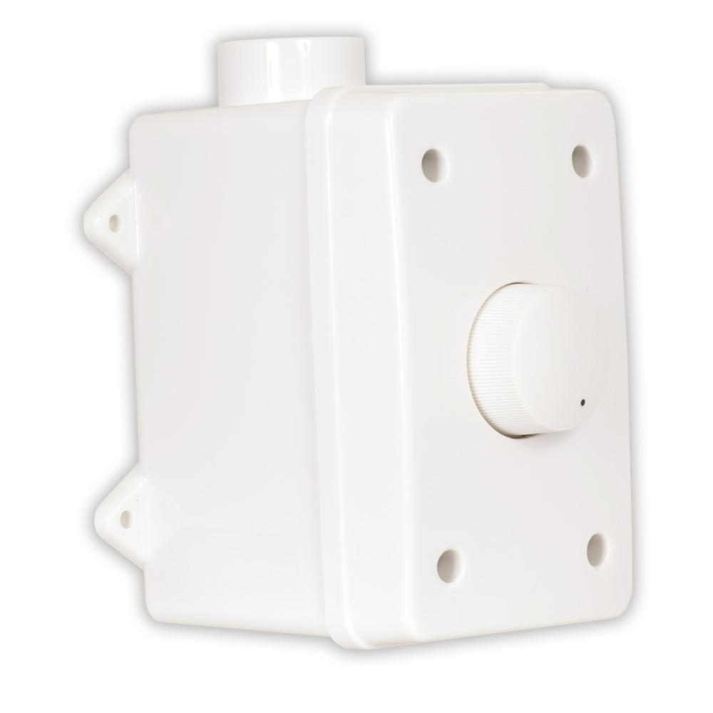 Theater Solutions by Goldwood Outdoor Speaker Volume Control White  Weatherproof Dial