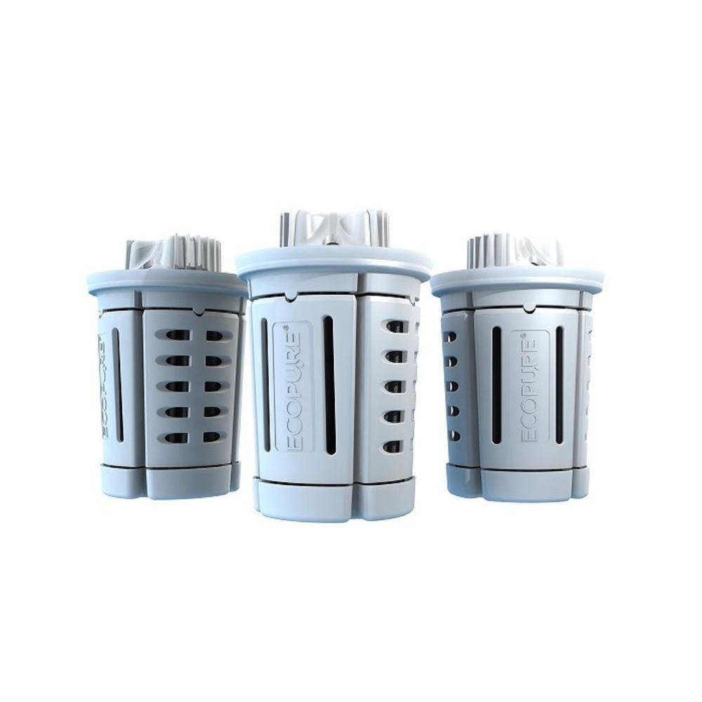 EcoPure Universal Pitcher Water Filter for Brita and Most Other Brands (3-Pack)
