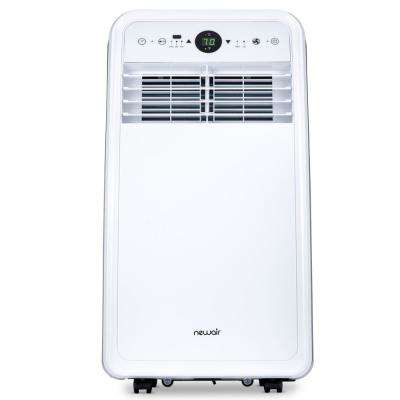 Premium 8,000 BTU (4,500 BTU, DOE) Ultra Compact Portable Air Conditioner and Dehumidifier with Remote Control in White