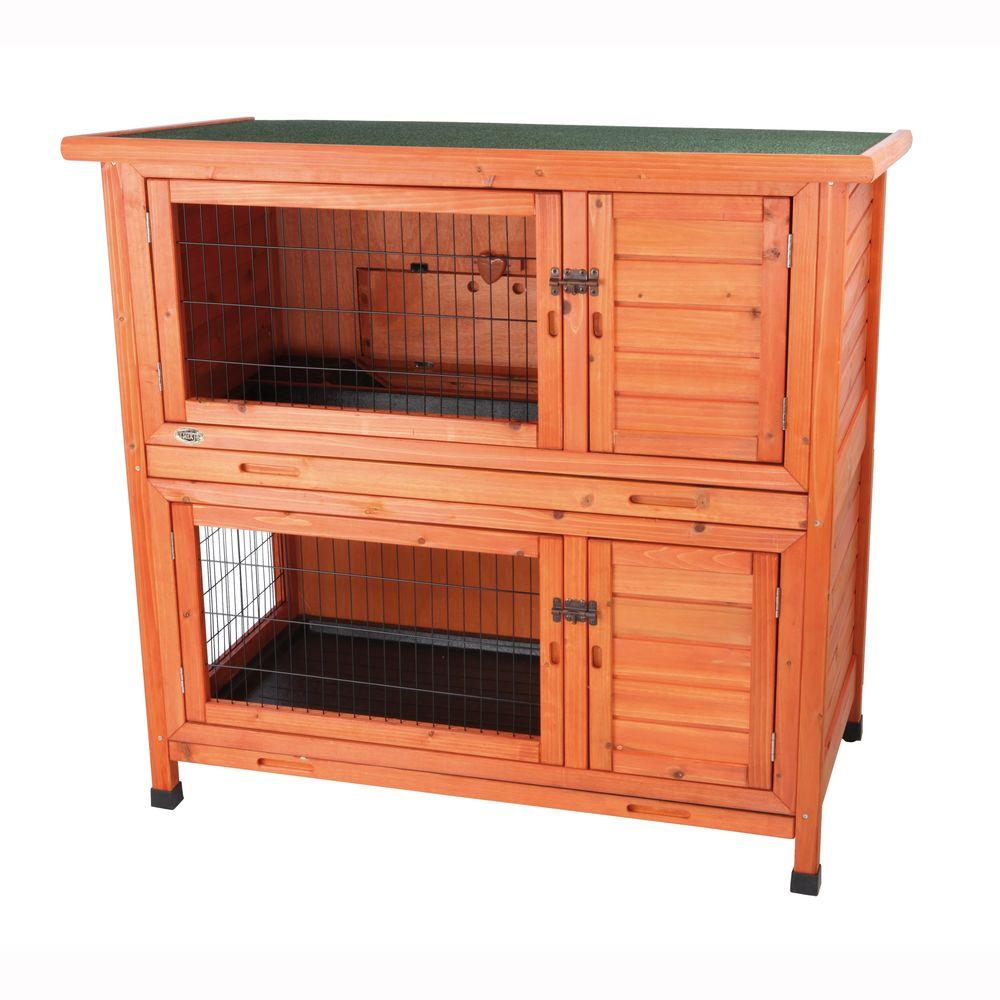 Trixie 3.8 ft. x 2.1 ft. x 3.6 ft. 2-in-1 Rabbit Hutch