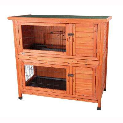 3.8 ft. x 2.1 ft. x 3.6 ft. 2-in-1 Rabbit Hutch