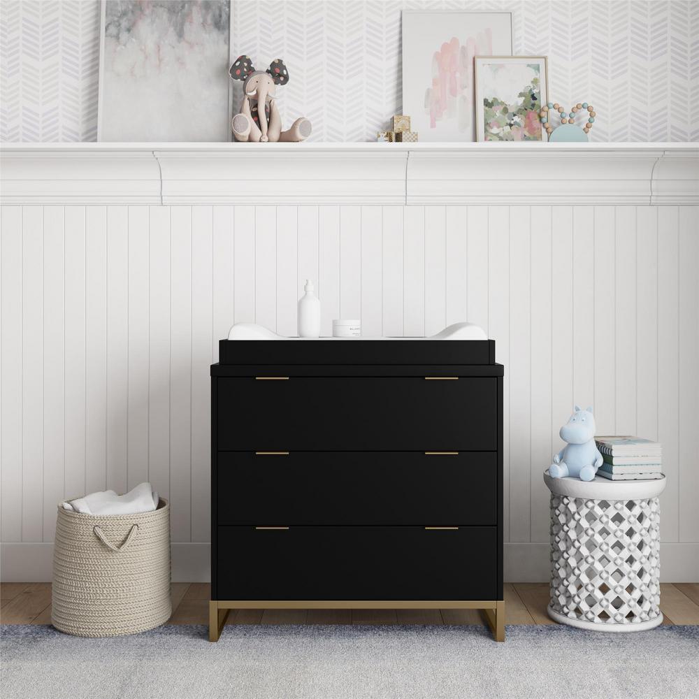 Baby Relax Holly Black Dresser Topper