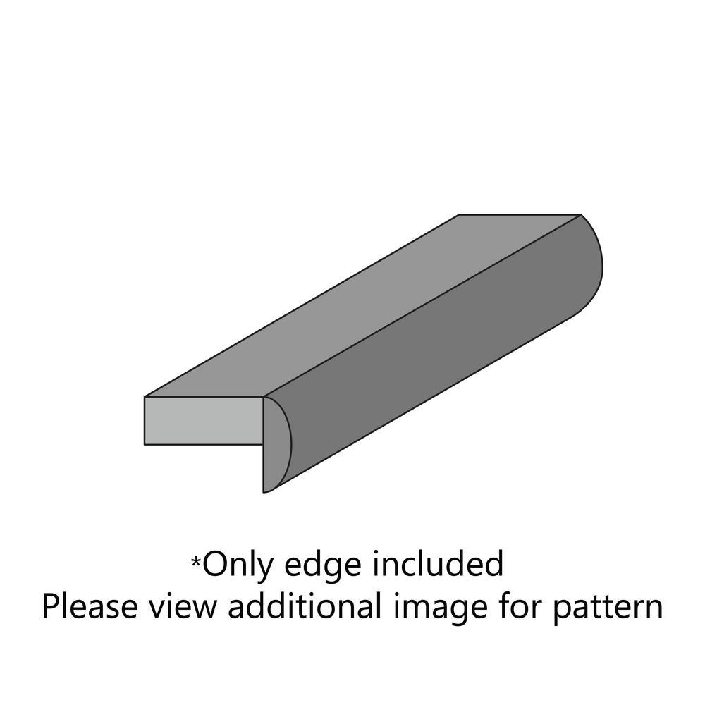 Pewter Brush Laminate Custom Crescent Edge