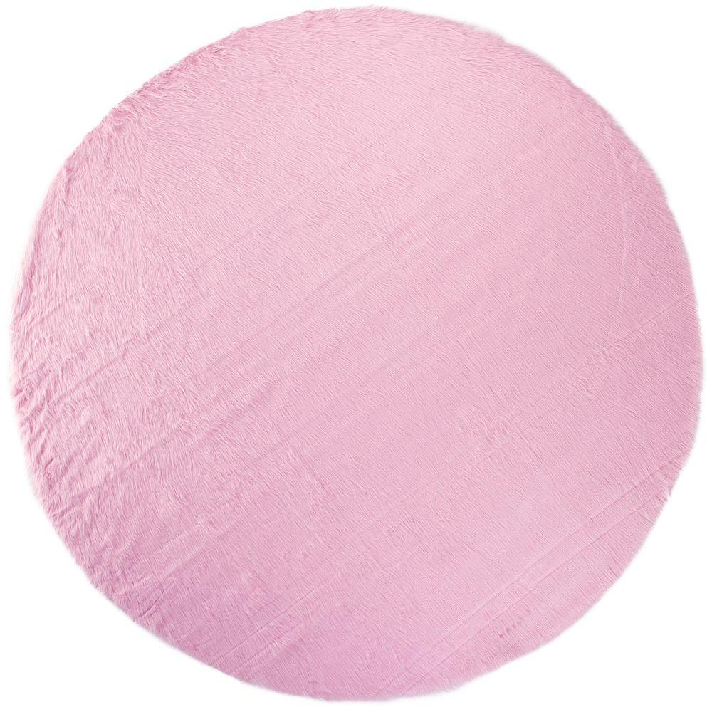 Home Decorators Collection Faux Sheepskin Pink 8 Ft. Round Area Rug