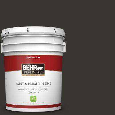 5 gal. Black Flat Low Odor Interior Paint and Primer in One