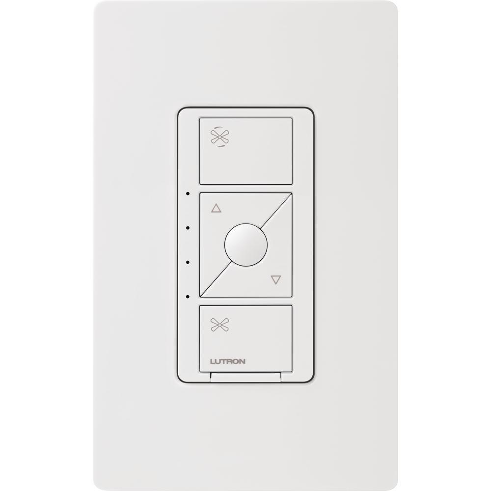 Single-Pole Caseta Wireless Smart Fan Speed Control, White
