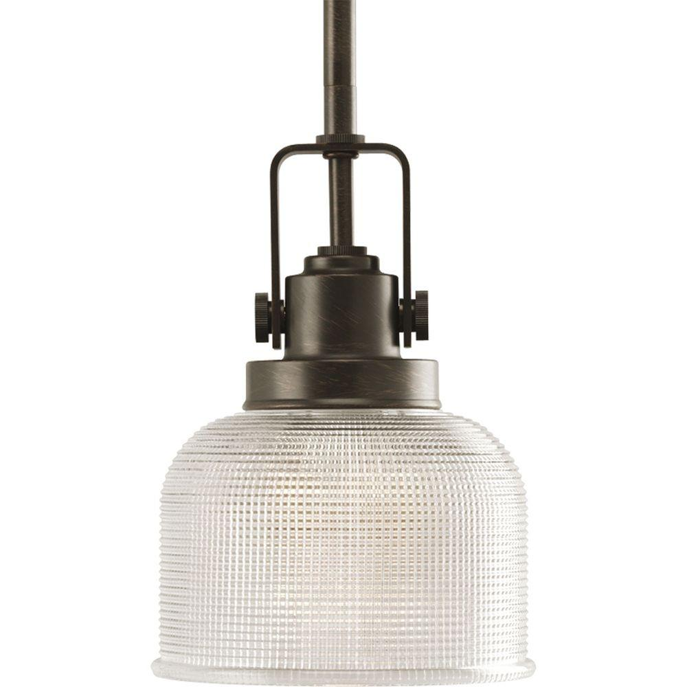 Archie Collection 1-Light Venetian Bronze Mini Pendant  sc 1 st  The Home Depot & Progress Lighting Madison Collection 1-Light Brushed Nickel Mini ... azcodes.com