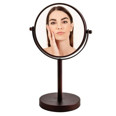 Small Antique Bronze Metal Glam Mirror (11.8 in. H X 4.7 in. W)