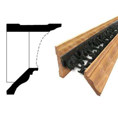 5-9/16 in. x 36 in. x 3-1/8 in. Oak Wood Wrought Iron Bronze Style 1 Base Kit Modular Crown Molding