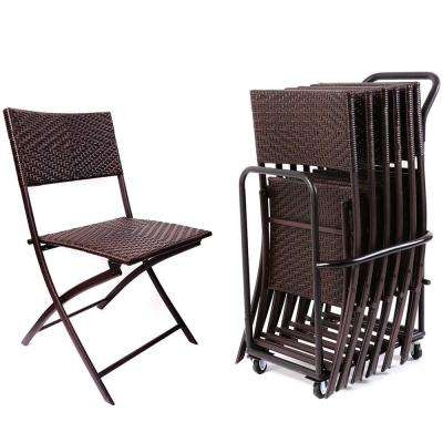 outdoor wicker armrest footrest pcs dp com chairs pool patio folding with set commercial stackable tangkula amazon steel portable rattan frame durable chair lawn