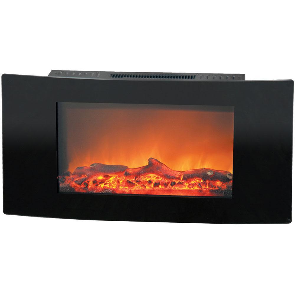 Cambridge Callisto 35 in. Wall-Mount Electric Fireplace in Black