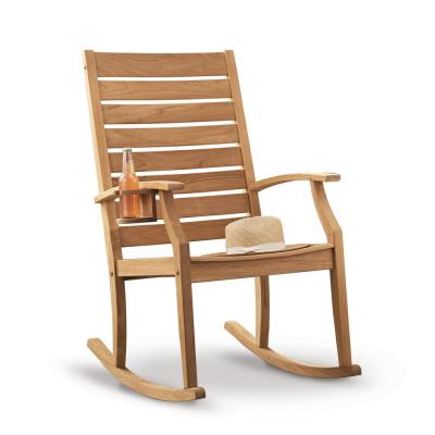 Logan Natural Teak Wood Outdoor Rocking Chair
