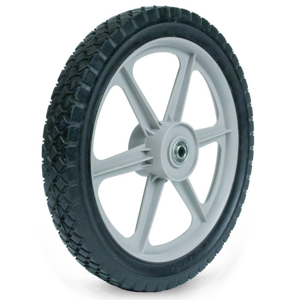 Martin Wheel 14X1.75 Plastic Spoke Semi-Pneumatic Wheel 1/2 inch Ball Bearing... by Martin Wheel