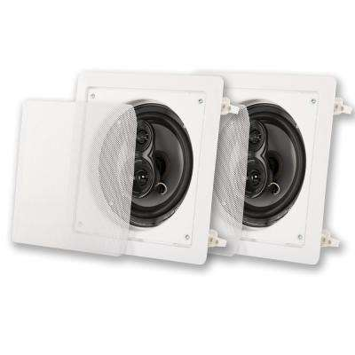 In-Wall / Ceiling 6.5 in. Pair 3 Way Home Theater Speaker