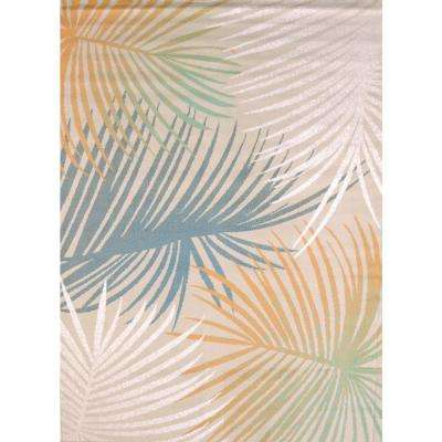Regional Concepts Palm Leaves Blue 5 ft. 3 in. x 7 ft. 2 in. Area Rug