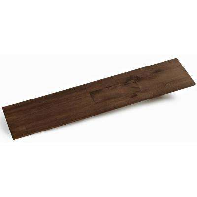 3/8 in. x 4-7/8 in. x 23-5/8 in. Java Prefinished Wood Peel and Press Wall Panel