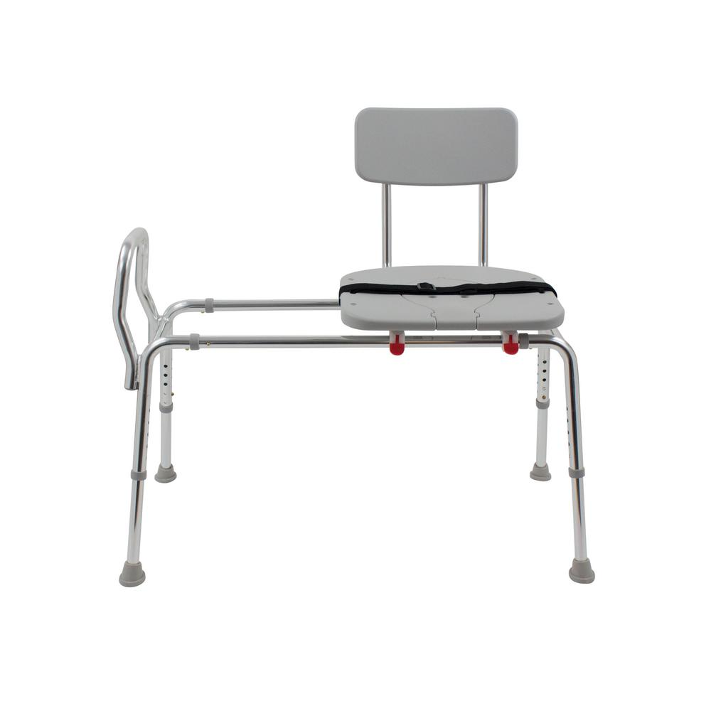 DMI Premium 20.5 in. W x 40 in. D Adjustable Transfer Bench Tub Seat ...