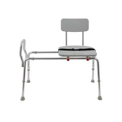 Premium 20.5 in. W x 40 in. D Adjustable Transfer Bench Tub Seat with Back Rest in White