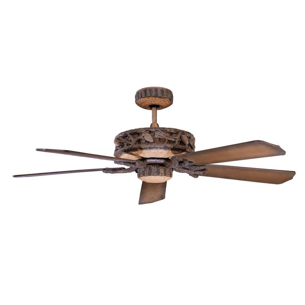 Ponderosa Series 52 in. Indoor/Outdoor Old Leather Weather Ceiling Fan