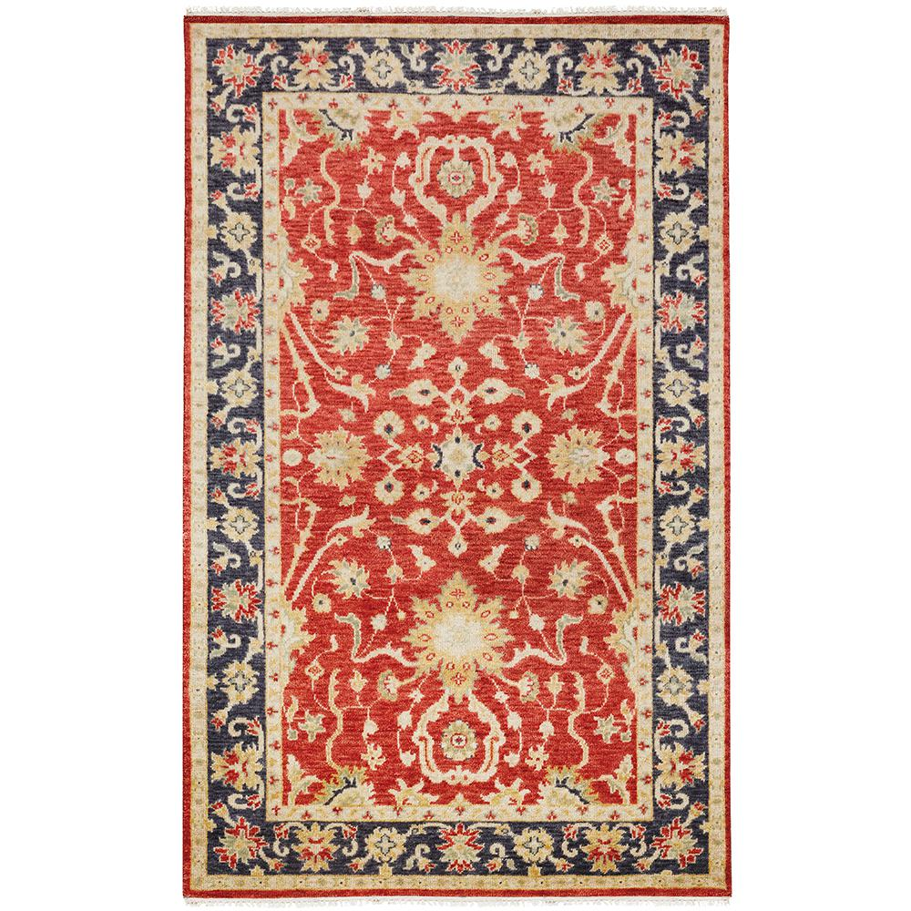 Home decorators collection bromley red navy 5 ft x 8 ft for Red and navy rug