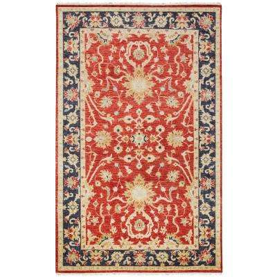 Bromley Red/Navy 5 ft. x 8 ft. Area Rug