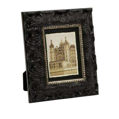 Lenor 1-Opening 5 in. x 7 in. Black Picture Frame