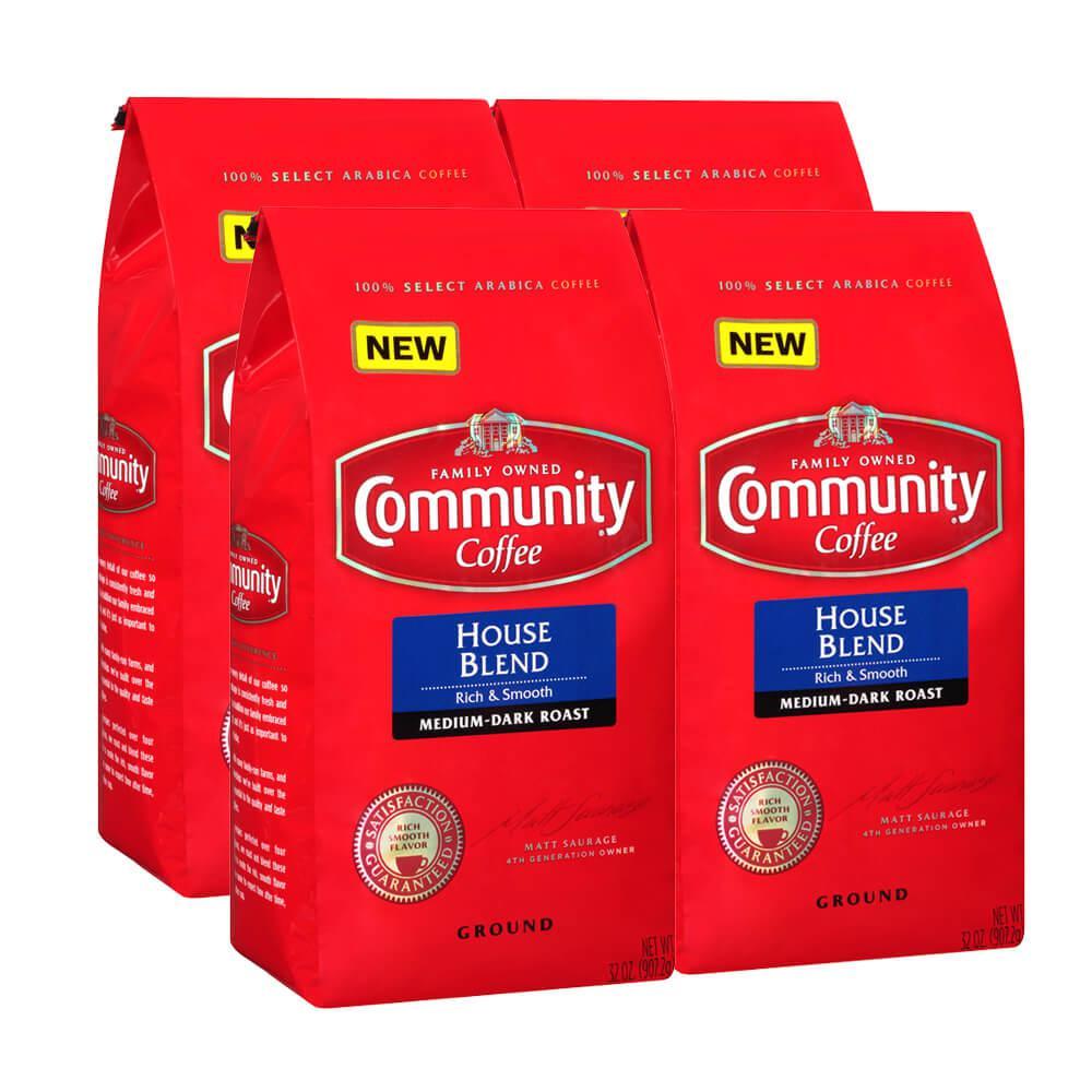 32 oz. House Blend Medium-Dark Roast Ground Coffee (4-Pack)