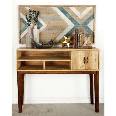 Stained Brown Mango Wood Console