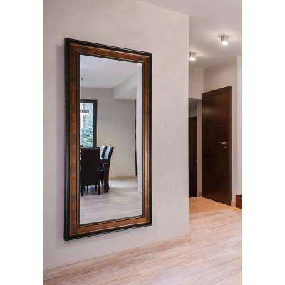 73.25 in. x 38.25 in. Bronze and Black Double Vanity Wall Mirror