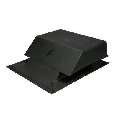 150 sq. in. NFA Plastic Slant-Back Roof Louver Static Vent in Black (Sold in Carton of 2 only)