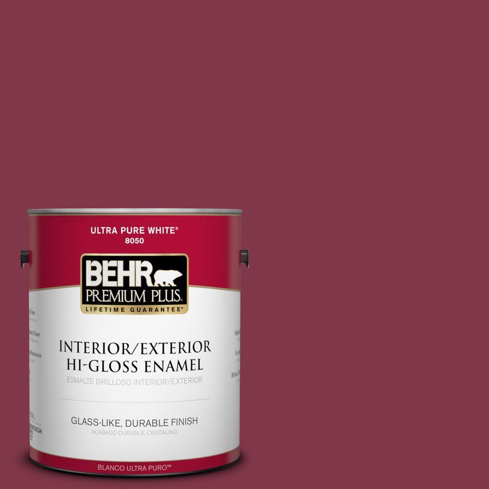 1-gal. #120D-7 Ruby Red Hi-Gloss Enamel Interior/Exterior Paint