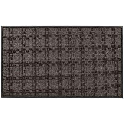 Portrait Charcoal 36 in. x 120 in. Rubber-Backed Entrance Mat
