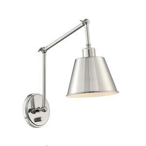 Mitchell 1-Light Polished Nickel Sconce