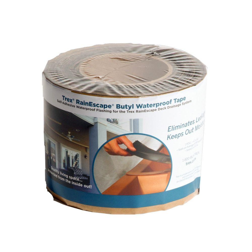 Trex RainEscape RainEscape Deck Drainage System 4 in. x 50 ft. Butyl Tape Roll