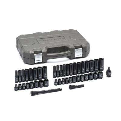 3/8 in. Drive SAE/Metric Std./Deep Impact Socket Set (44-Piece)
