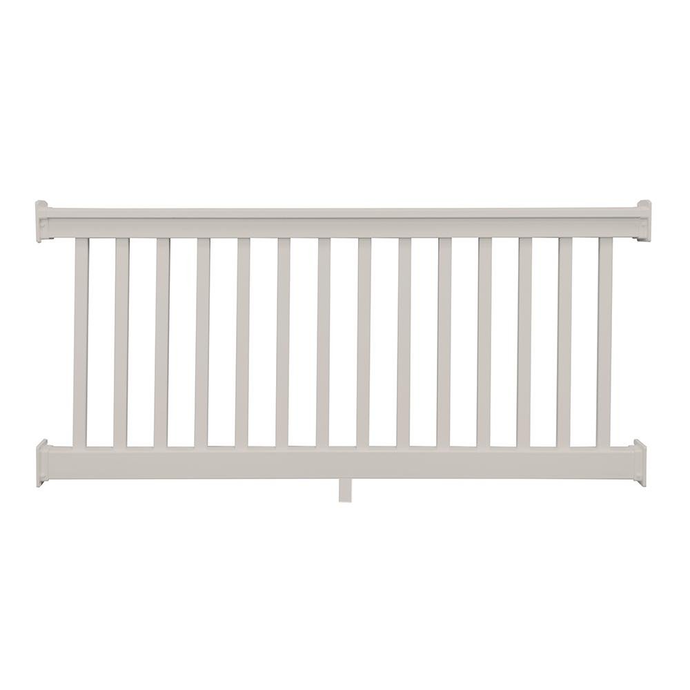 Weatherables Riviera 36 In X 72 In Tan Vinyl Straight Railing Kit Ctr T36 E6 The Home Depot