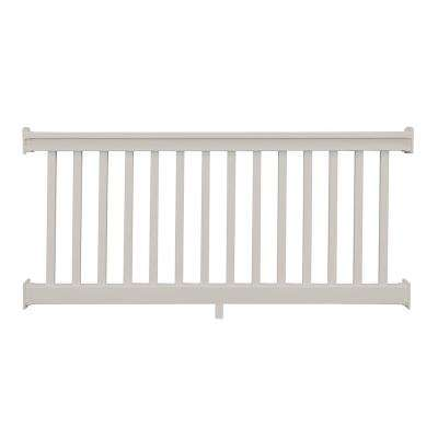Riviera 3.5 ft. H x  8 ft. W Tan Vinyl Railing Kit
