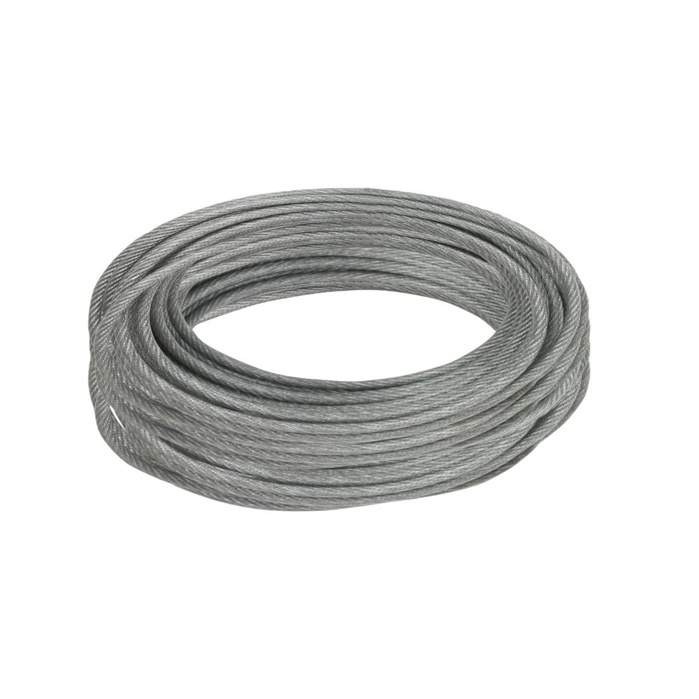 Everbilt 3/32 in. x 50 ft. Galvanized Vinyl-Coated Wire Rope-811042 ...